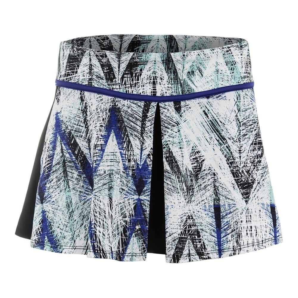 Women's Spin Tennis Skort Diamond Print