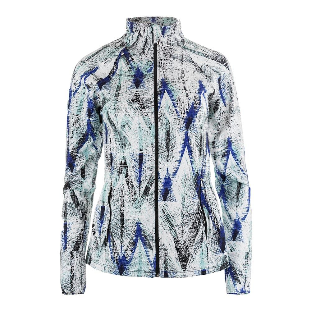 Women's Finish Line Tennis Jacket Diamond Print