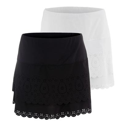 Women`s Laser Long Tier Tennis Skort