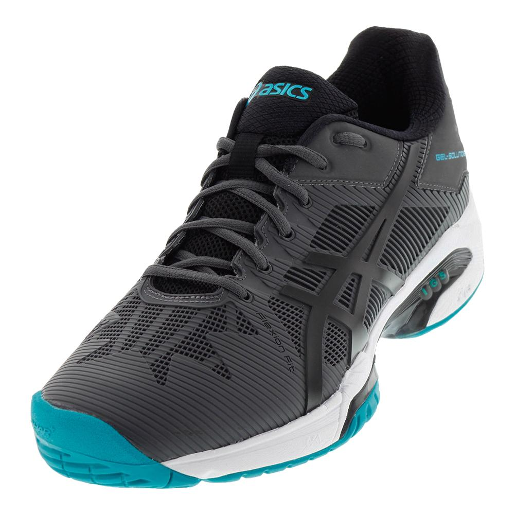 Men's Gel- Solution Speed 3 Tennis Shoes Dark Gray And Black