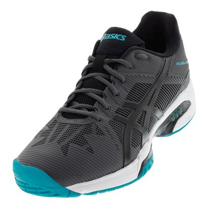 Men`s Gel-Solution Speed 3 Tennis Shoes Dark Gray and Black