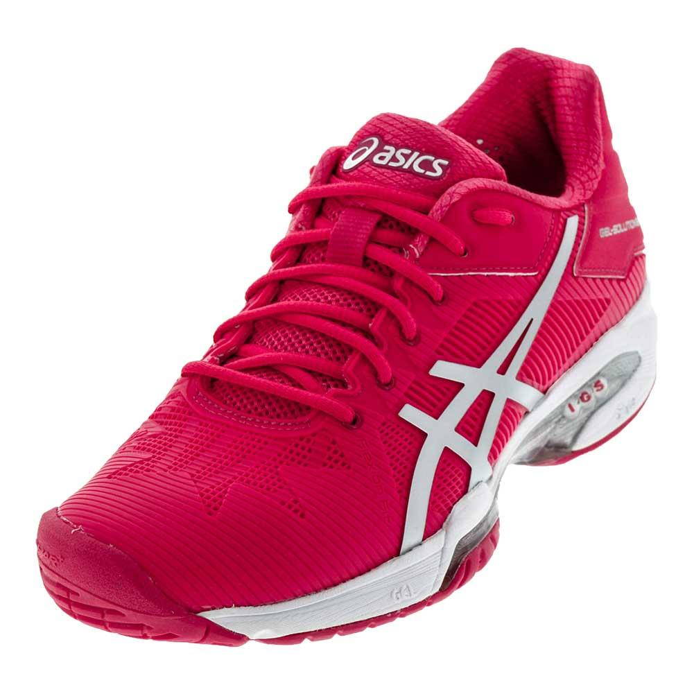 Women's Gel- Solution Speed 3 Tennis Shoes Rouge Red And Silver