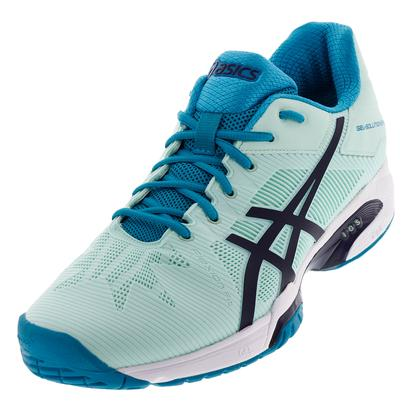 Women`s Gel-Solution Speed 3 Tennis Shoes Glacier Sea and Indigo Blue
