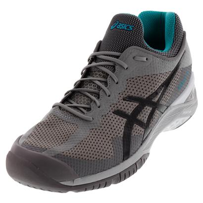 Unisex Gel-Court FF Tennis Shoes Aluminum and Dark Gray