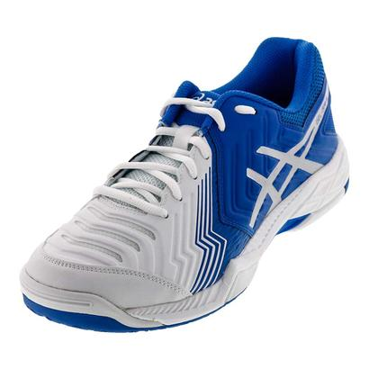 Men`s Gel-Game 6 Tennis Shoes White and Director Blue