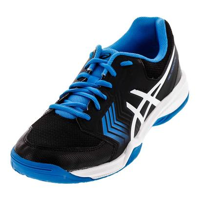 Men`s Gel-Dedicate 5 Tennis Shoes Black and Hawaiian Surf