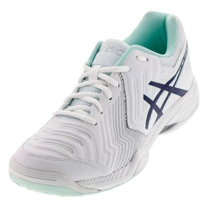Women`s Gel-Game 6 Tennis Shoes White and Indigo Blue