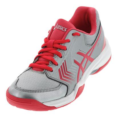 Women`s Gel-Dedicate 5 Tennis Shoes Silver and Rouge Red