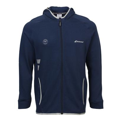 Men`s Wimbledon Core Tennis Hood Sweat Dark Blue