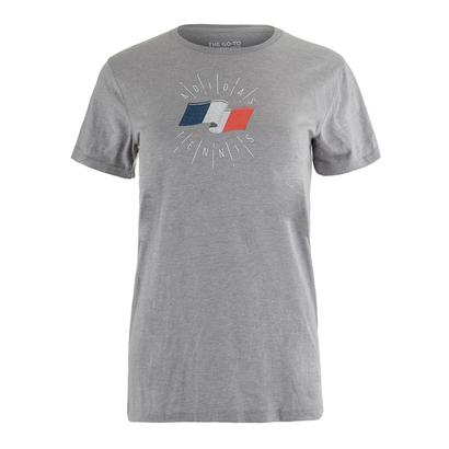 Women`s Net Game Paris Graphic Tennis Tee Medium Gray Heather