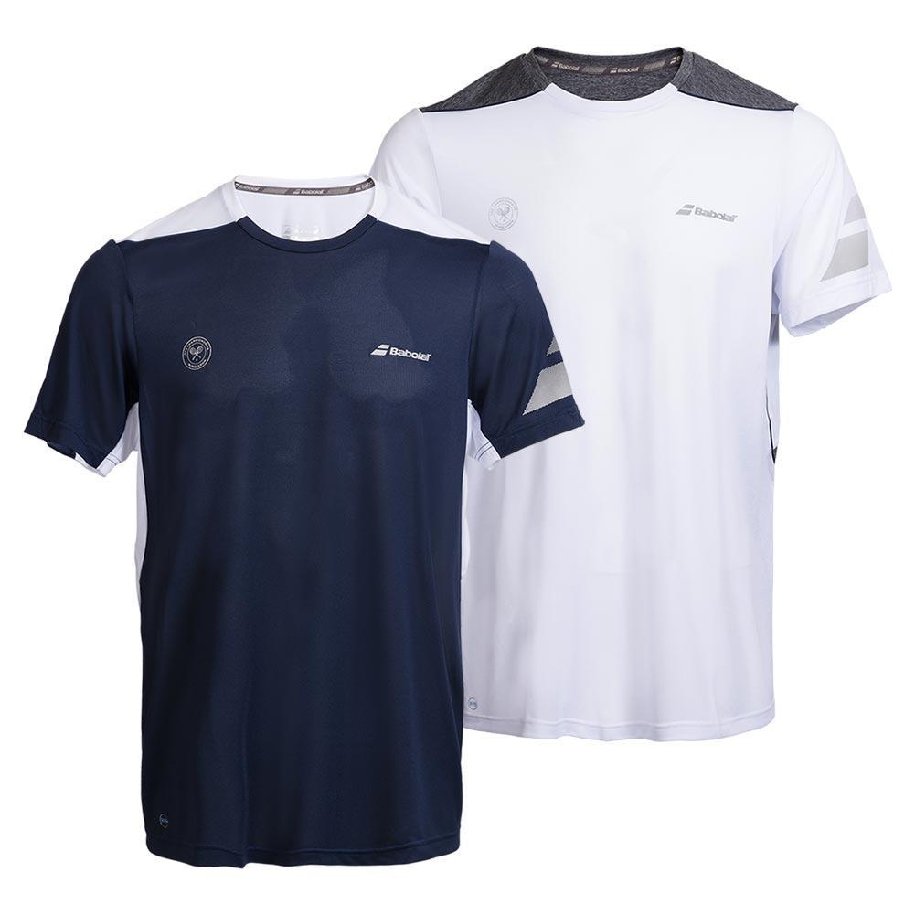Boys ` Wimbledon Perf Crew Neck Tennis Tee