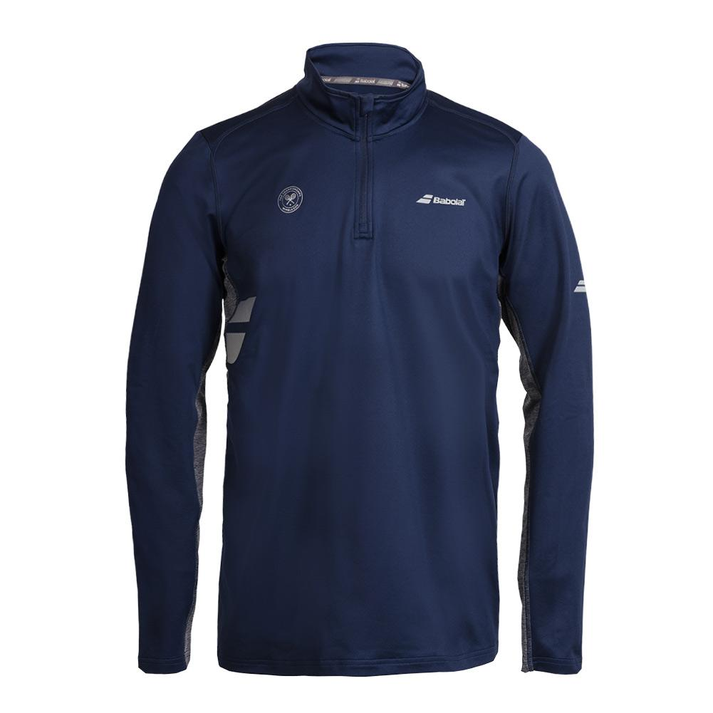 Men's Wimbledon Core 1/2 Zip Tennis Top Dark Blue