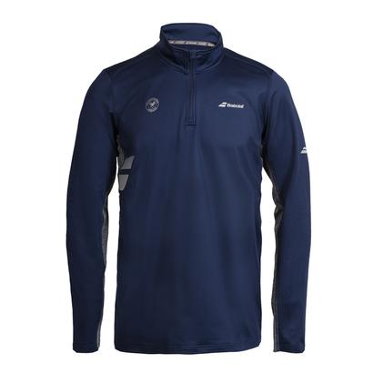 Men`s Wimbledon Core 1/2 Zip Tennis Top Dark Blue