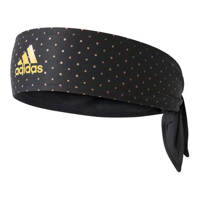 Tennis Graphic Tieband Black and Eqt Yellow