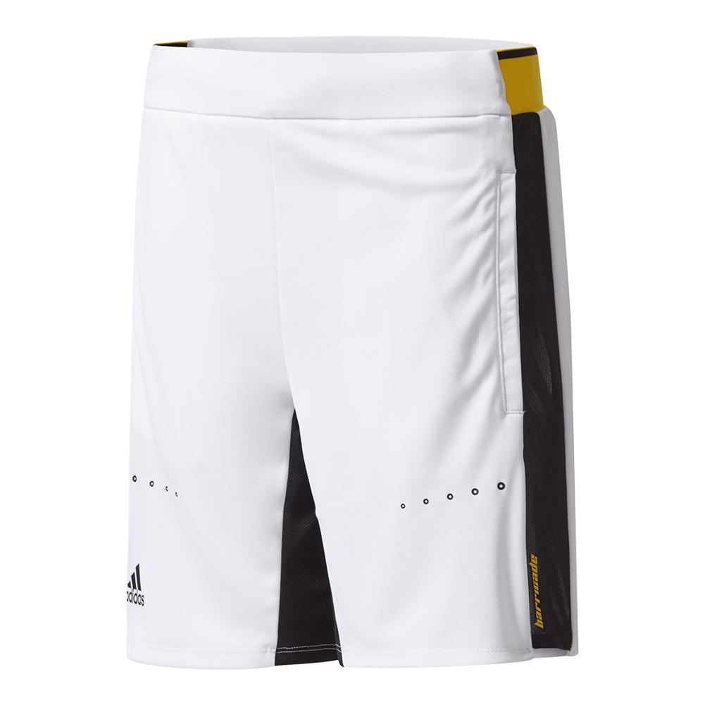 Boys ` Barricade Tennis Short White And Eqt Yellow
