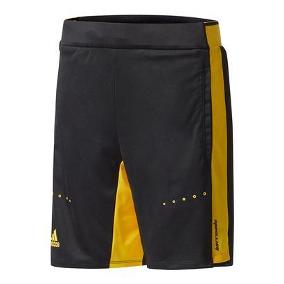 Boys` Barricade Tennis Short Black and Eqt Yellow