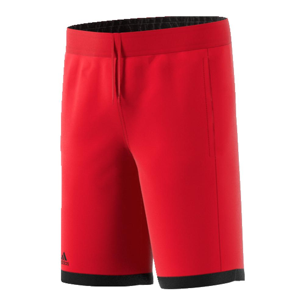 Boys ` Court Tennis Short Scarlet And Black