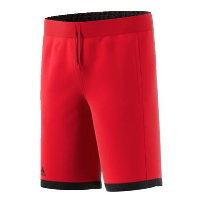 Boys` Court Tennis Short Scarlet and Black
