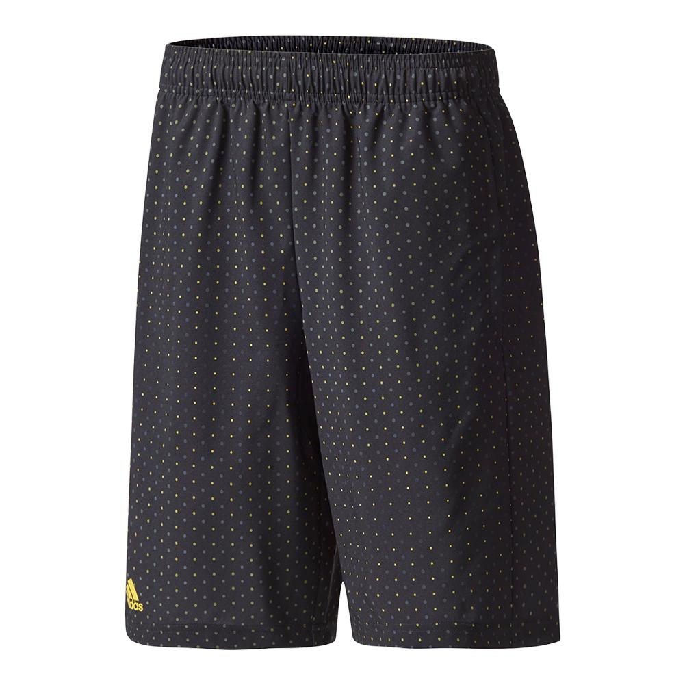 Boys ` Advantage Trend Bermuda Tennis Short Black And Eqt Yellow