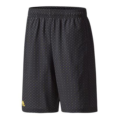 Boys` Advantage Trend Bermuda Tennis Short Black and Eqt Yellow