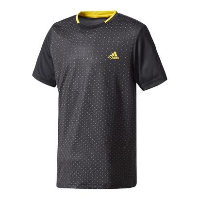 Boys` Advantage Trend Tennis Tee Black and Eqt Yellow