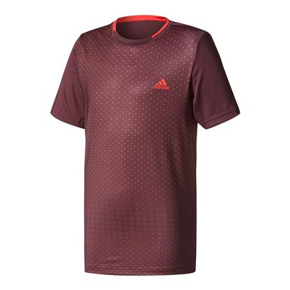 Boys` Advantage Trend Tennis Tee Dark Burgundy and Scarlet
