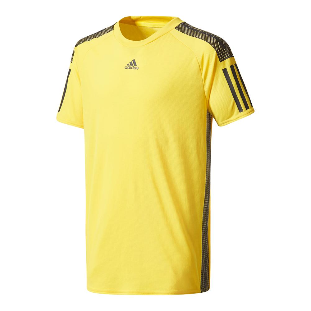 Boys ` Barricade Tennis Tee Eqt Yellow And Black