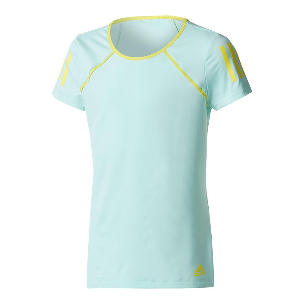 Girls ` Club Tennis Tee Energy Aqua