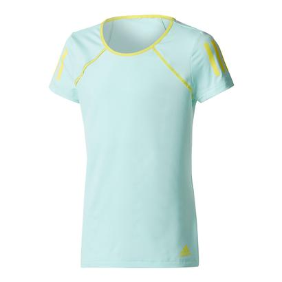 Girls` Club Tennis Tee Energy Aqua