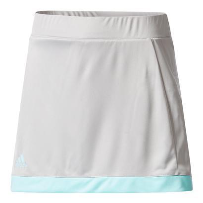 Girls` Court Tennis Skirt Gray and Energy Aqua