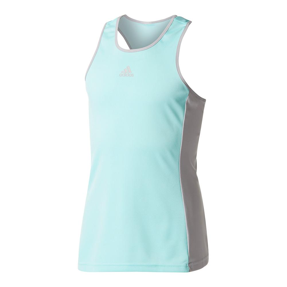 Girls ` Court Tennis Tank Energy Aqua And Gray