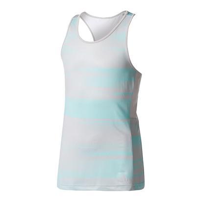 Girls` Advantage Trend Tennis Tank Gray and Energy Aqua