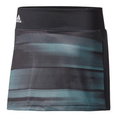 Girls` Advantage Trend Tennis Skirt Black and Energy Aqua