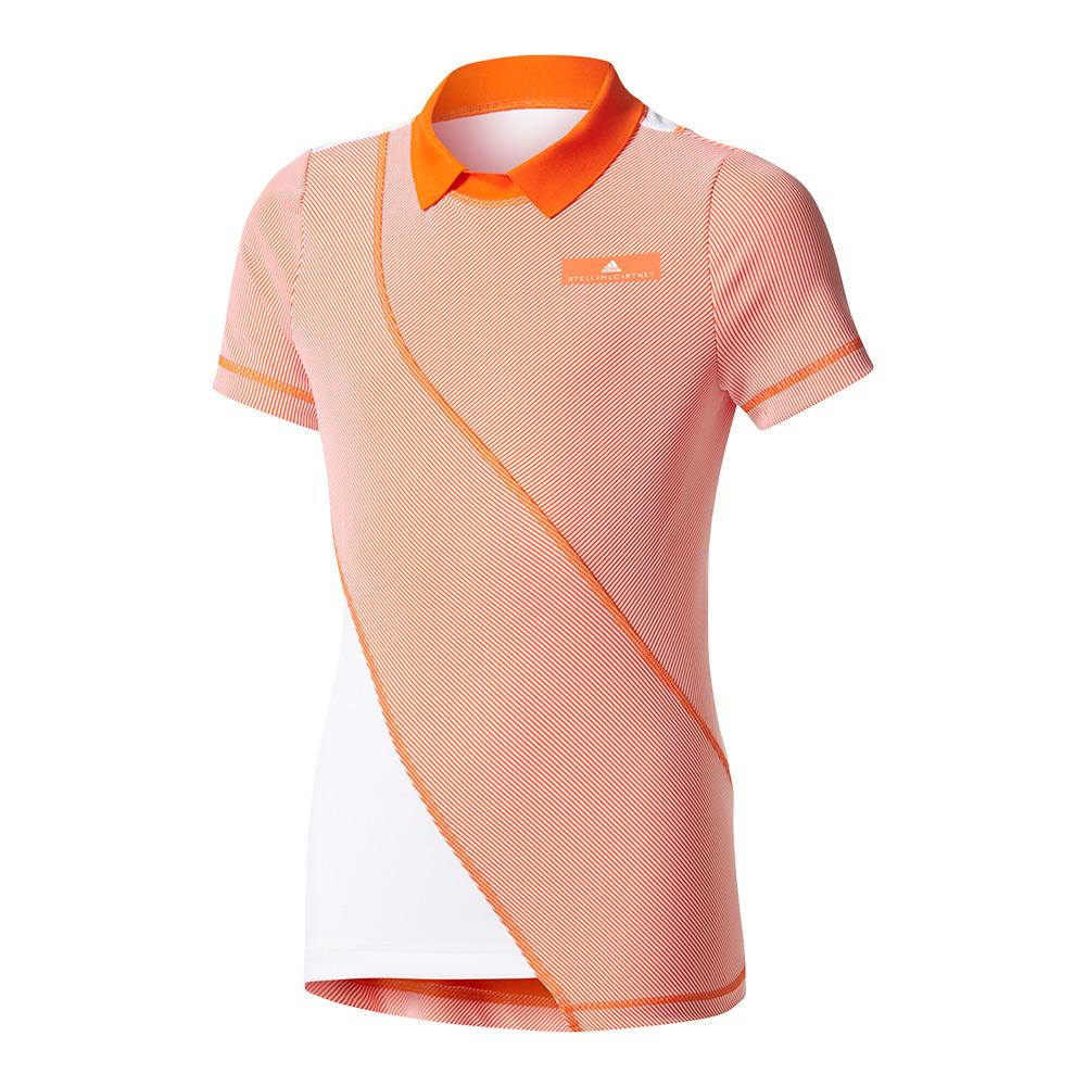 Girls'stella Mccartney Barricade Tennis Tee Radiant Orange And White