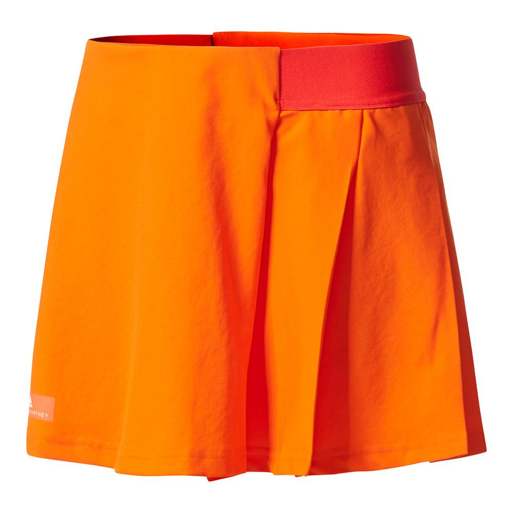Girls'stella Mccartney Barricade Tennis Skirt Radiant Orange And Core Red