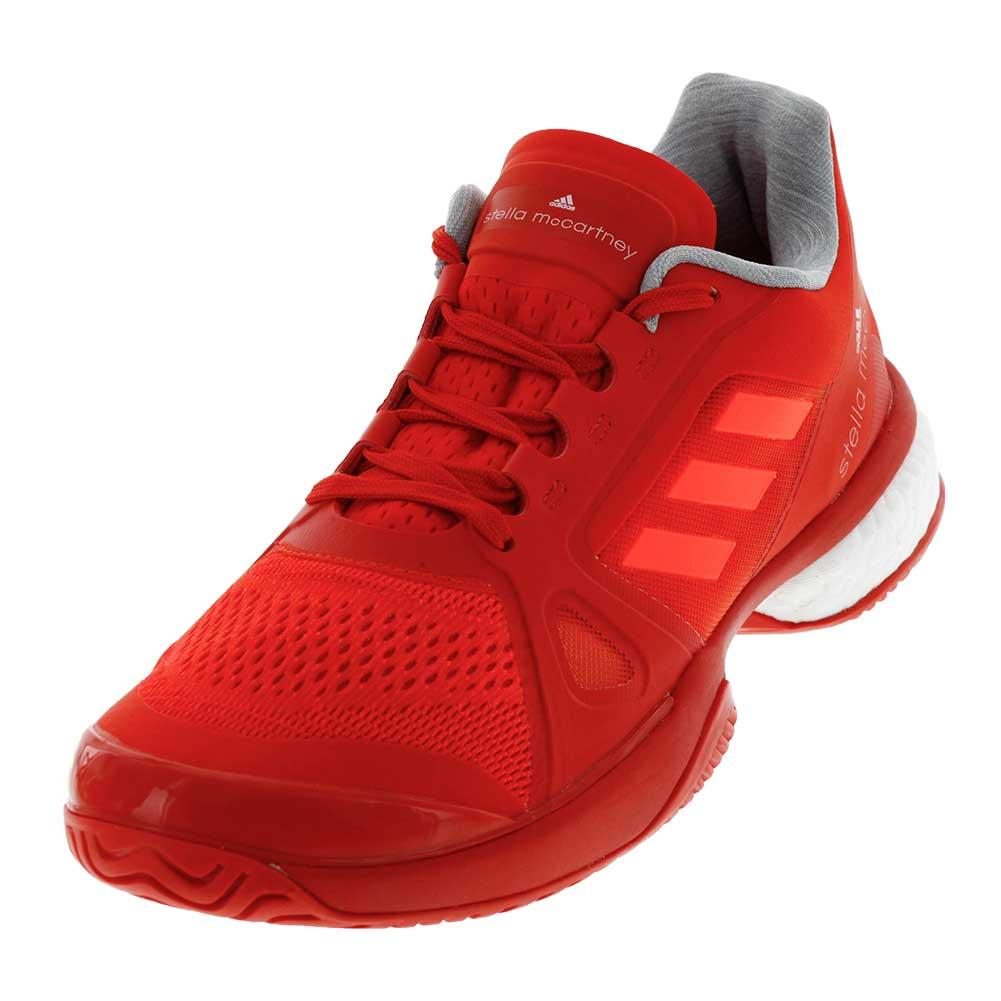 Women's Stella Barricade Boost 2017 Tennis Shoes Core Red And White