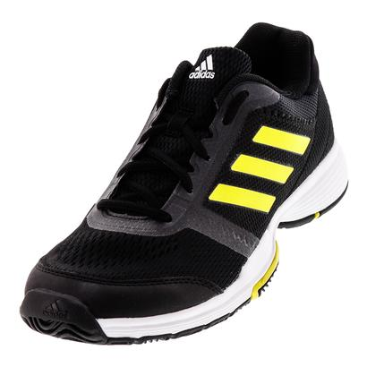 Women`s Barricade Club Tennis Shoes Core Black and Bright Yellow