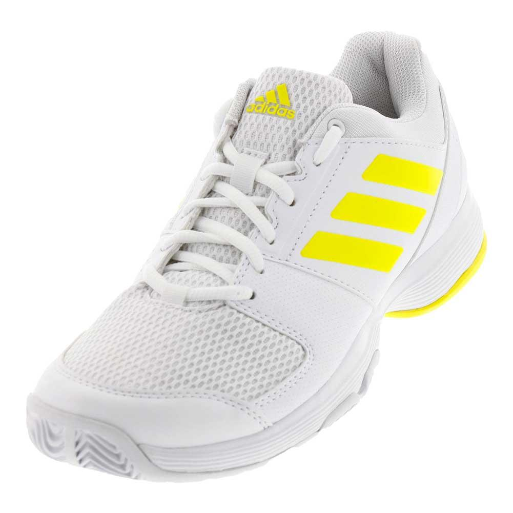 Women's Barricade Court 2 Tennis Shoes White And Bright Yellow