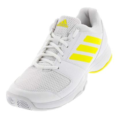 Women`s Barricade Court 2 Tennis Shoes White and Bright Yellow