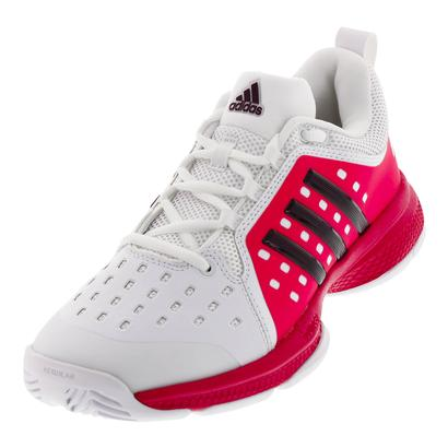 Women`s Barricade Classic Bounce Tennis Shoes White and Dark Burgundy