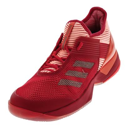 Women`s Adizero Ubersonic 3 Tennis Shoes Energy Pink and Vapour Gray