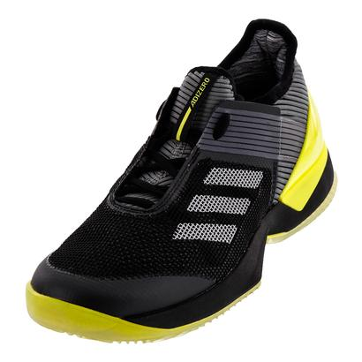 Women`s Adizero Ubersonic 3 Clay Tennis Shoes Core Black and Night Metallic