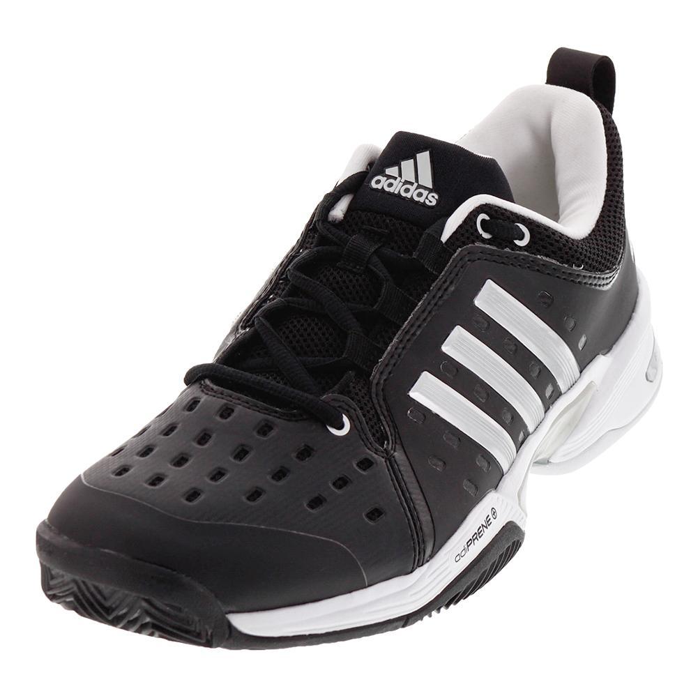 1c9bb804566b3 ... closeout adidas mens barricade classic wide 4e tennis shoes black and  silver metallic 87592 15381