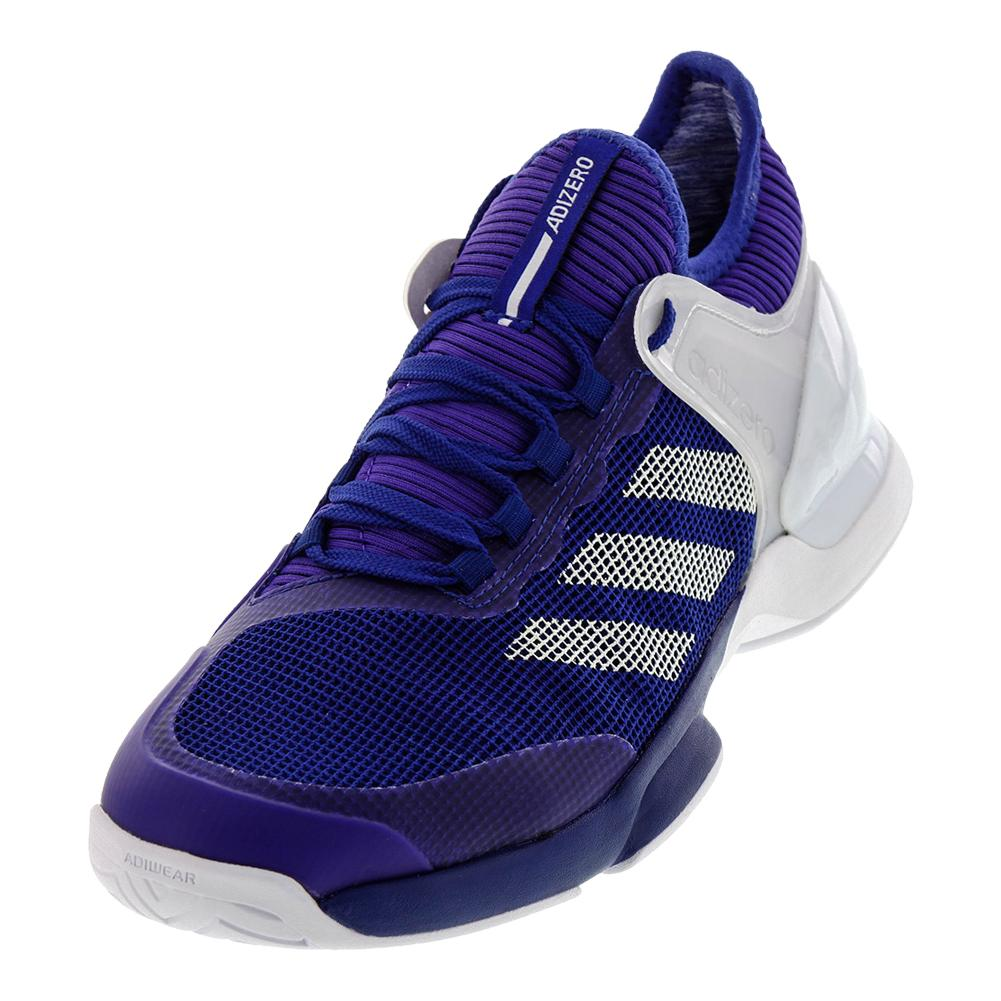 Men's Adizero Ubersonic 2 Tennis Shoes Mystery Ink And White