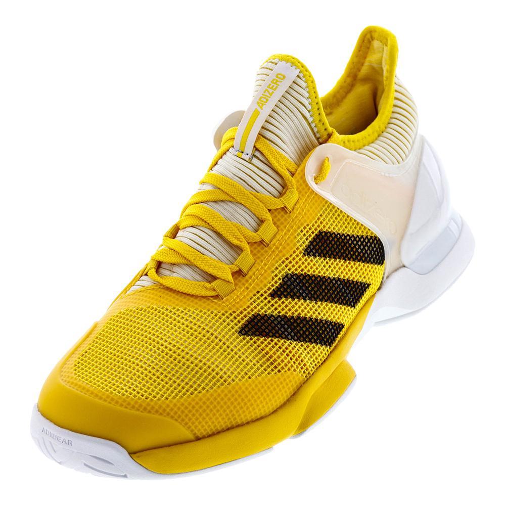Men's Adizero Ubersonic 2 Tennis Shoes Eqt Yellow And Black