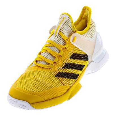 Men`s Adizero Ubersonic 2 Tennis Shoes Eqt Yellow and Black
