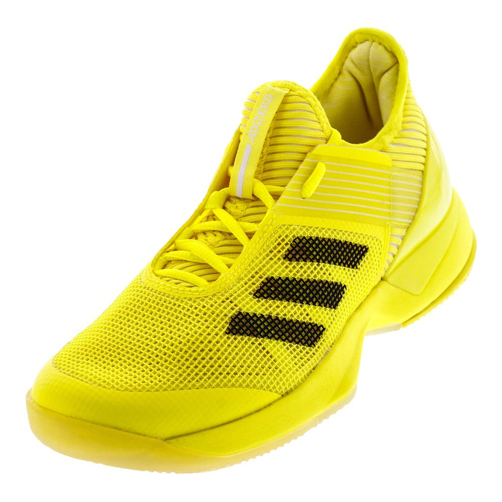 Women's Adizero Ubersonic 3 Tennis Shoes Bright Yellow And Core Black