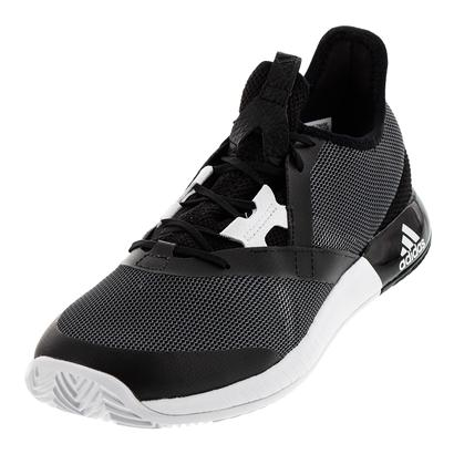 Men`s Adizero Defiant Bounce Tennis Shoes Black and Gray