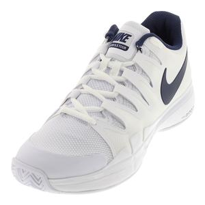 Men`s Zoom Vapor 9.5 Tour Tennis Shoes White and Binary Blue