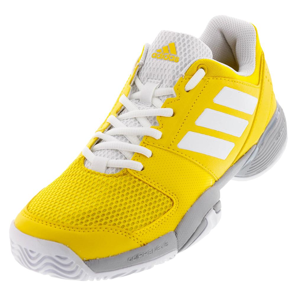 Juniors ` Barricade Club Tennis Shoes Eqt Yellow And White